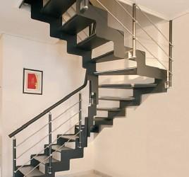 Классическая металлическая лестница 6