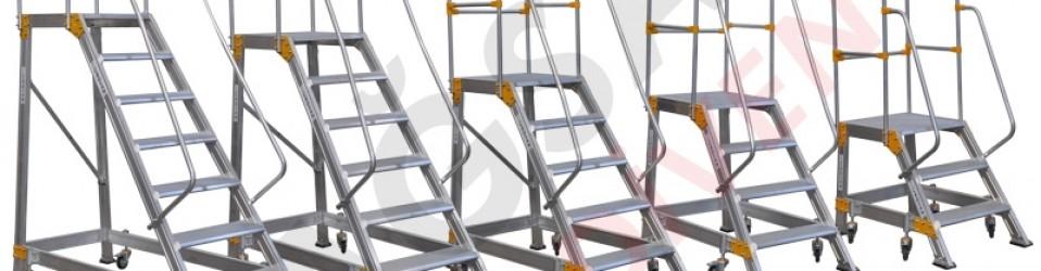 Алюминиевые платформы со спуском