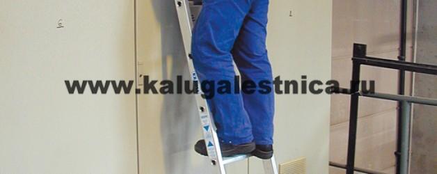 Односекционная приставная лестница со ступенями