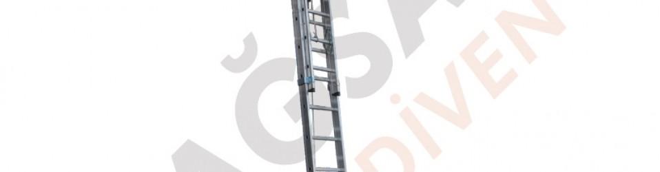 Двухсекционные алюминиевые лестницы с тросовым подъемным механизмом