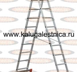 Трехсекционная лестница алюминиевая бытовая 3х10 Премьер