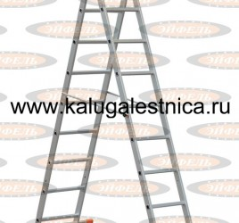 Трехсекционная лестница алюминиевая бытовая 3х9 Премьер