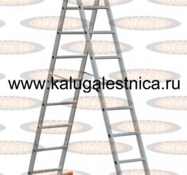 Трехсекционная лестница алюминиевая бытовая 3х8 Премьер