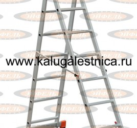 Трехсекционная лестница алюминиевая бытовая 3х7 Премьер