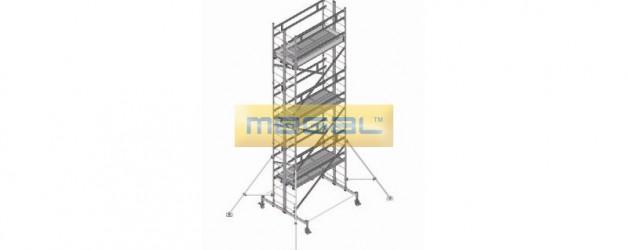 Вышка модульная алюминиевая ВМА 900 для работ внутри резервуарах