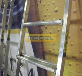 Лестница приставная алюминиевая с широкими ступенями ЛПШ