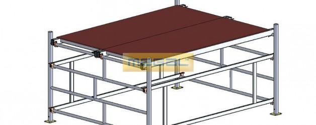 Подмости разборные алюминиевые ПРА 1400 (класс «Профи»)
