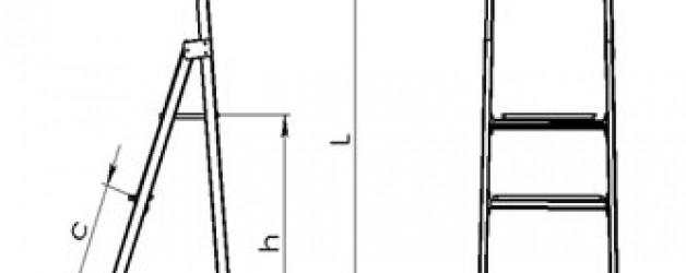 Стремянка стеклопластиковая с вертикальной опорой с широкими ступенями ССВ-Ш «ЛУЧ»