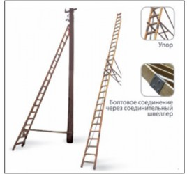 Лестница стеклопластиковая приставная для подъёма на опоры ВЛ (ЛСПСО) «ЛУЧ»