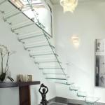 Стеклянные больцевые лестницы