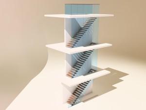 """Лестницы для дома - """"Крыло чайки"""""""