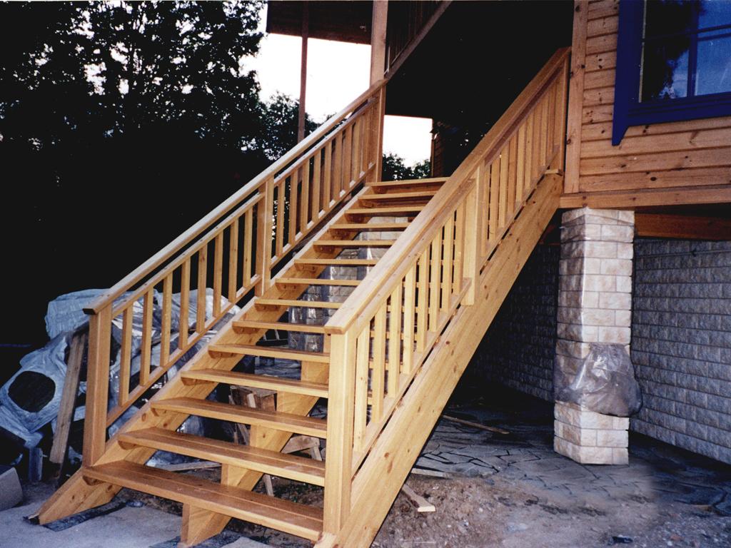 Уличные лестницы для дома своими руками 410