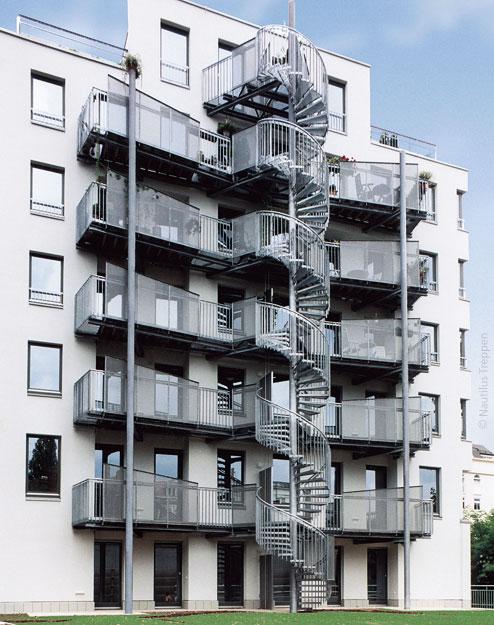 Наружная лестница, лейпциг 2 - nautilus элитные лестницы.