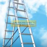 Двухсекционные универсальные лестницы