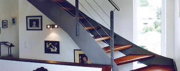 Металлическая лестница на тетивах N 4000, Конрадсройт