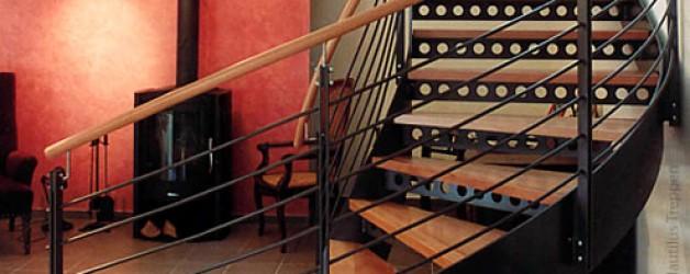 Металлическая лестница на тетивах N 4000, Грайц 3