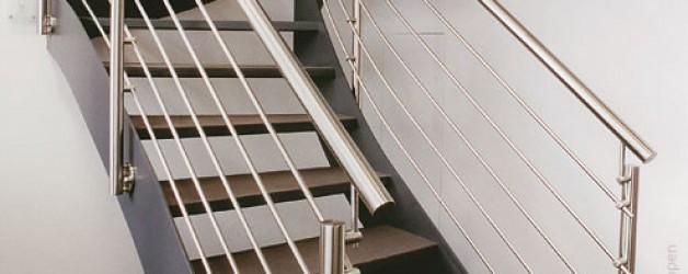 Металлическая лестница на тетивах N 4000, Гера