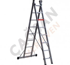Многофункциональные двухсекционные алюминиевые лестницы