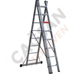 Многофункциональные трёхсекционные алюминиевые лестницы