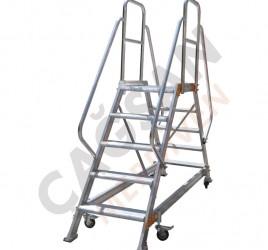 Алюминиевые платформы с двумя спусками