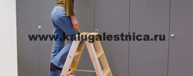 Двусторонняя лестница-стремянка со ступенями