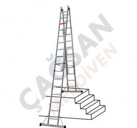 Лестницы с двойным подъемом и площадкой тип А