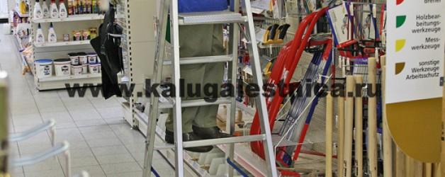 Односторонняя передвижная лестница с платформой