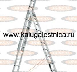 Лестница трехсекционная универсальная Ювелир Плюс 3х14