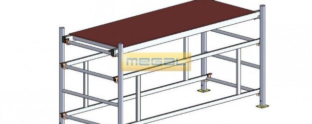 Подмости разборные алюминиевые ПРА 700 (класс «Профи»)