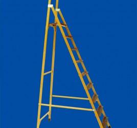 Стремянки стеклопластиковые с вертикальной опорой «телеком» с широкими ступенями ССВ-ТШ «ЛУЧ»