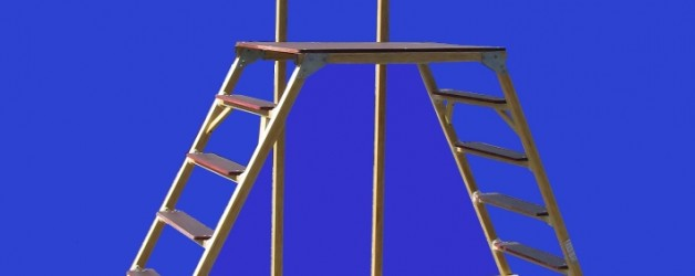 Стремянка-подмость стеклопластиковая с вертикальной опорой ССВ-П «ЛУЧ»