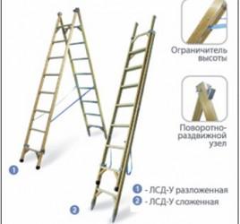 Лестница стеклопластиковая двухстороння универсальная ЛСД-У «ЛУЧ»