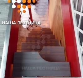 Модульная лестница гусиный шаг, проект № 116