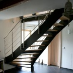 Металлическая лестница на тетивах N 4000, Грайц 1